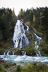 Austria, East-Tyrol, High Tauern Nationalpark, near Kals am Grossglockner: Schleierfall waterfall | Oesterreich, Osttirol, bei Kals am Grossglockner: der Schleierfall