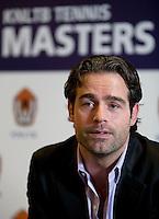 29-11-12, Netherlands, Tennis, Rotterdam, Pressconference KNLTB Masters, Tournament director Raemon Sluiter explains.