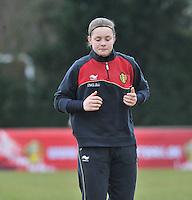 Denmark U17 - Belgium U17 : Diede Lemey.foto DAVID CATRY / Vrouwenteam.be