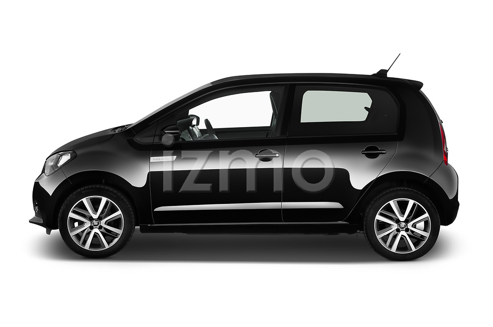 Car driver side profile view of a 2020 Seat Mii electric Plus 5 Door Hatchback