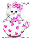 Kayomi, CUTE ANIMALS, paintings, CupKittyHearts_M, USKH42,#AC# stickers illustrations, pinturas ,everyday
