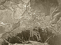 historical aerial photograph Jackson, Wyoming, 1967