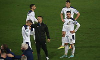 12th November 2020; Belgrade, Serbia; European International Football Playfoff Final, Serbia versus Scotland;  Serbian players after losing the match Darko Lazovic, Nikola Milenkovic, Luka Jovic