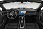 Stock photo of straight dashboard view of 2021 Porsche 911 Carrera 2 Door Convertible Dashboard
