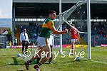 Paul Geaney celebrates scoring Kerry's second goal during the Munster GAA Football Senior Championship Final match between Kerry and Cork at Fitzgerald Stadium in Killarney on Sunday.