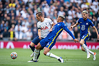 19th September 2021; Tottenham Hotspur Stadium, Tottenham, London; Thiago Silva and Giovani Lo Celso during the Premier League match between Tottenham Hotspur and Chelsea at Tottenham Hotspur Stadium
