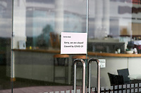 """Closed cafe at Formosa. Golf during Level 3 Covid 19 isolation regulations. Players playing as part of their """"bubble"""" or solo. Whitford park and Formosa Golf Courses. Thursday 30 April 2020. Photo: Simon Watts/www.bwmedia.co.nz"""