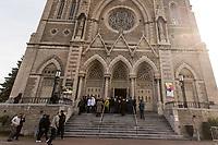 Funerailles de l'adjudant Patrice Vincent, le 1er novembre 2014 a la<br /> Cathedrale de Longueuil.<br />  <br /> <br /> <br /> PHOTO :  Agence Quebec Presse