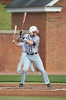 Corey Joyce (7) of the North Carolina Central Eagles at bat against the High Point Panthers at Williard Stadium on February 28, 2017 in High Point, North Carolina. The Eagles defeated the Panthers 11-5. (Brian Westerholt/Four Seam Images)