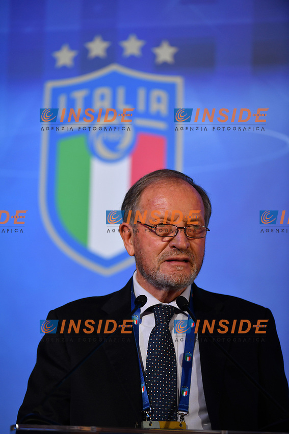 ROME, ITALY - FEBRUARY 22:  Renzo Ulivieri attends the FIGC Elective Assembly at Cavalieri Waldorf Astoria Hotel on February 21, 2021 in Rome, Italy.  <br /> Photo Marco Rosi / FIGC / Insidefoto