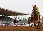 June 27 2015: Masochistic with Tyler Baze up wins the Triple Bend Handicap at Santa Anita Park in Arcadia CA. Alex Evers/ESW/CSM