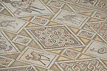 Mosaic floor in St. Cosme and St. Damian chuch in Jerash