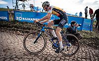 Lander Loockx (BEL/Hens-Maes) up the brutal Koppenberg<br /> <br /> Koppenbergcross 2020 (BEL)<br /> <br /> ©kramon