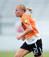 Samantha Huecker.  The Charlotte Lady eagles defeated the Long Island Rough Riders, 4-0, to advance to the W-League Eastern Conference Championship.