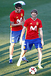 Spain's Javi Martinez (l) and Nacho Monreal during training session. March 20,2017.(ALTERPHOTOS/Acero)