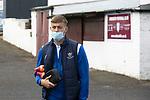 Arbroath v St Johnstone…15.08.21  Gayfield Park      Premier Sports Cup<br />Reece Devine arrives at Gayfield Park<br />Picture by Graeme Hart.<br />Copyright Perthshire Picture Agency<br />Tel: 01738 623350  Mobile: 07990 594431