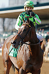 April 03, 2021: #5 Kimari and jockey Joel Rosario win the 20th running of The Madison Grade 1 $300,000 for owner Ten Broeck Farm and trainer Wesley Ward at Keeneland Racecourse in Lexington, KY on April 03, 2021.  Candice Chavez/ESW/CSM