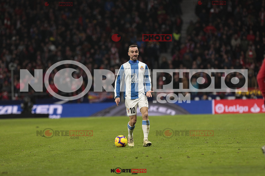 RCD Espanyol's Sergi Darder during La Liga match between Atletico de Madrid and RCD Espanyol at Wanda Metropolitano Stadium in Madrid, Spain. December 22, 2018. (ALTERPHOTOS/A. Perez Meca) /NortEPhoto.com
