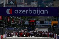 6th June 2021; F1 Grand Prix of Azerbaijan, Race Day;  Starting grid, 16 LECLERC Charles mco, Scuderia Ferrari SF21 during the Formula 1 Azerbaijan Grand Prix 2021 at the Baku City Circuit