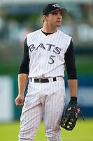 Louisville first baseman Joey Votto (5) on defense versus Charlotte at Louisville Slugger Field in Louisville, KY, Wednesday, June 6, 2007.