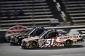 NASCAR Camping World Truck Series<br /> JAG Metals 350<br /> Texas Motor Speedway<br /> Fort Worth, TX USA<br /> Friday 3 November 2017<br /> Noah Gragson, Switch Toyota Tundra, Myatt Snider, Liberty Tax Service Toyota Tundra<br /> World Copyright: John K Harrelson<br /> LAT Images