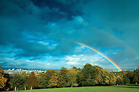 Rainbow over Glasgow from Queen's Park, Glasgow