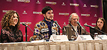 Ellie Heyman, Max Vernon, Stewart F. Lane and Leah Lane during a panel for BroadwayHD and the future of capturing stage performances for New Musicals at New York Hilton Midtown on January 13, 2019 in New York City.