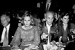 GIANNI BULGARI CON PIA GIANCARO,   DADO  RUSPOLI E BELLA FREUD<br /> FESTA ROCCO BAROCCO - GRAND HOTEL ROMA 1980