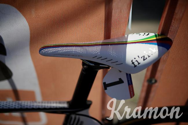 #1 under a rainbow saddle, as current world champion Pauline Ferrand-Prevot (FRA/Rabobank-Liv) was last years winner<br /> <br /> Flèche Wallonne Féminine 2015