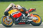 Honda rider Andrea Dovizioso of Italy competes in the MotoGP World Championship, Gran Premio d'Italia at Mugello circuit on June 6, 2010.