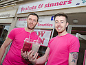 Colin Cunningham and James Ridley launch a new café venture Saints & Sinners in Princes Street, Falkirk.