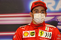 5th June 2021;  F1 Grand Prix of Azerbaijan. Press conference for  Pole sitter 16 Charles Leclerc MON, Scuderia Ferrari Mission Winnow, F1 Grand Prix of Azerbaijan at Baku City Circuit