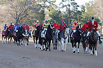 The post parade before the running of the Smarty Jones stakes. Jan.21, 2013 - Hot Springs, Arkansas, U.S -   (Credit Image: © Justin Manning/Eclipse/ZUMAPRESS.com)