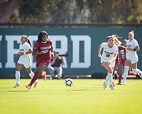 STANFORD, CA - October 21, 2018: Madison Haley at Laird Q. Cagan Stadium. No. 1 Stanford Cardinal defeated No. 15 Colorado Buffaloes 7-0 on Senior Day.