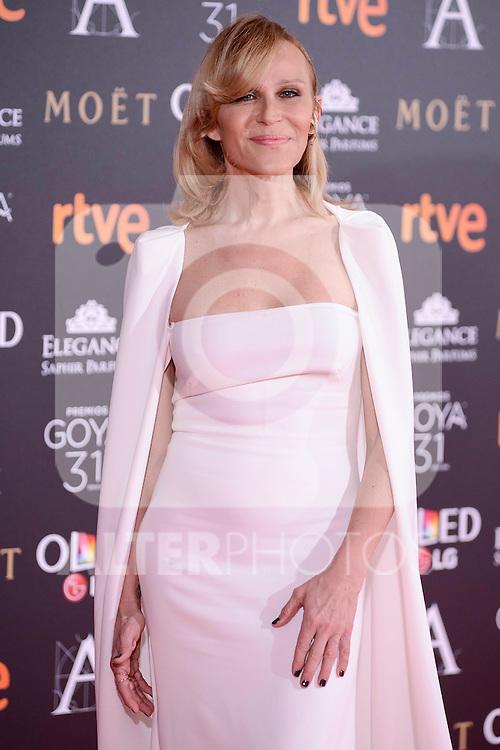 Antonia San Juan attends to the Red Carpet of the Goya Awards 2017 at Madrid Marriott Auditorium Hotel in Madrid, Spain. February 04, 2017. (ALTERPHOTOS/BorjaB.Hojas)