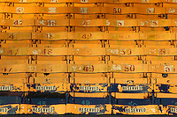 General view of the colourful seats in the East Stand ahead of Southend United vs Brighton & Hove Albion Under-23, Checkatrade Trophy Football at Roots Hall on 30th August 2016