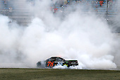 Monster Energy NASCAR Cup Series<br /> Tales of the Turtles 400<br /> Chicagoland Speedway, Joliet, IL USA<br /> Sunday 17 September 2017<br /> Martin Truex Jr, Furniture Row Racing, Furniture Row/Denver Mattress Toyota Camry celebrates his win with a burnout <br /> World Copyright: Russell LaBounty<br /> LAT Images