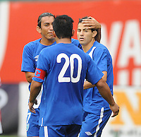Guatemala midfielder Marco Papa (16) celebrates his score from a penalty kick.   Guatemala tied Paraguay 3-3 in a international friendly match at RFK Stadium, Wednesday August 15, 2012.