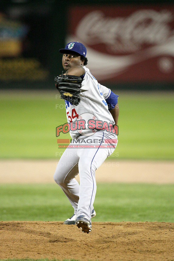 August 12, 2009: Daigoro Rondon of the Ogden Raptors. The Ogden Raptors are the Pioneer League affiliate of the Los Angeles Dodgers. Photo by: Chris Proctor/Four Seam Images