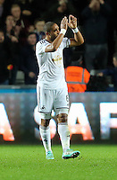 Sunday 09 November 2014 <br /> Pictured: Ashley WIlliams of Swansea<br /> Re: Barclays Premier League, Swansea City FC v Arsenal City at the Liberty Stadium, Swansea, Great Britain.