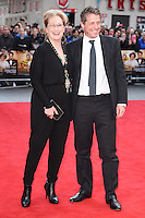 """Meryl Streep and Hugh Grant<br /> arrives for the """"Florence Foster Jenkins"""" European premiere at the Odeon Leicester Square, London<br /> <br /> <br /> ©Ash Knotek  D3106 12/04/2016"""