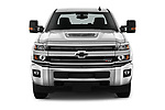 Car photography straight front view of a 2019 Chevrolet Silverado-2500 LT 4 Door Pick-up Front View