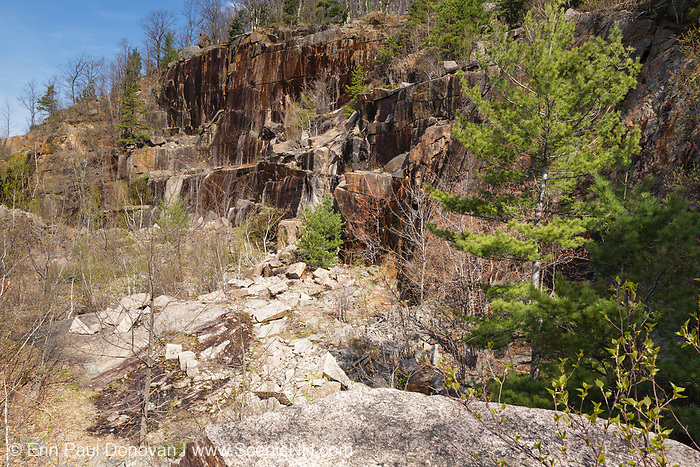 The abandoned Redstone Granite quarry in Conway, New Hampshire. The Redstone Granite Quarry is an abandoned quarry at the base of Rattlesnake Mountain in Redstone (part of the town of Conway).