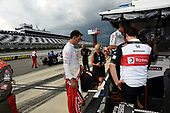 Graham Rahal, Rahal Letterman Lanigan Racing Honda debriefs after the race was called due to impending storms