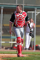 Robert Case #29 of the St. John's Red Storm during a game vs the Ohio State Buckeyes at the Big East-Big Ten Challenge at Walter Fuller Complex in St. Petersburg, Florida;  February 20, 2011.  Ohio State defeated St. John's 8-7 in 11 innings.  Photo By Mike Janes/Four Seam Images