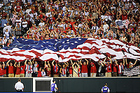 United States (USA) fans celebrate the game winning goal. The United States (USA) defeated Panama (PAN) 2-1 during a quarterfinal match of the CONCACAF Gold Cup at Lincoln Financial Field in Philadelphia, PA, on July 18, 2009.