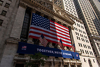 Stockmarket, Wallstreet, New York City, July 9th, 2020.<br /> <br /> Keep Going New York!!! A project by Stefan Falke about the streets of New York City during the Corona Crisis 2020.