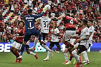 3rd October 2021; Maracana Stadium, Rio de Janeiro, Brazil; Brazilian Serie A, Flamengo versus Athletico Paranaense; Léo Pereira of Flamengo and Santos of Athletico Paranaense