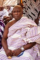 Africa, Ghana,Kumasi, Ashanti vip wear gold jewelery at king meeting