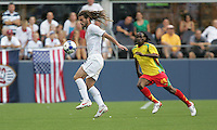 Kyle Beckerman brings down the ball. USA defeated Grenada 4-0 during the First Round of the 2009 CONCACAF Gold Cup at Qwest Field in Seattle, Washington on July 4, 2009.